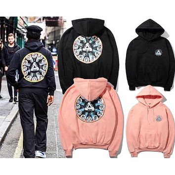 Triangle twelve constellations hoodies for men autumn winter hip hop tide brand hoodies men high street men hoodies