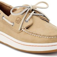 Sperry Top-Sider Sperry Cup 2-Eye Boat Sneaker Oatmeal, Size 7.5M  Men's Shoes