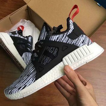 2017 NMD XR1 III Running Shoes Mastermind Japan Skull Fall Olive green Glitch Black Wh