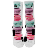 Macaroons Rainbow Customized Nike Elite Socks Fast Shipping!