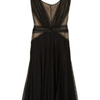 Discount Zac Posen Lace and mesh-paneled dress | THE OUTNET