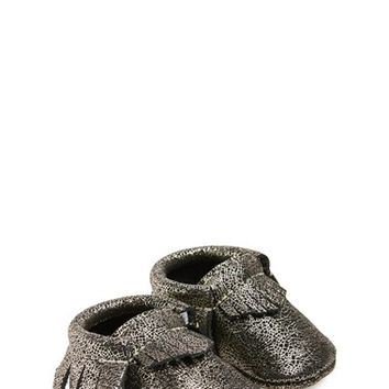 Infant Freshly Picked Crackle Leather Moccasin (Nordstrom Exclusive)