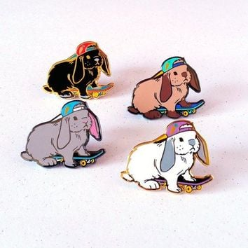 Skate Rabbit Enamel Pin