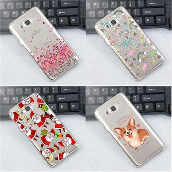 Unicorn butterfly watercolor art Christmas cartoon panda Minions Selfie stitch Hard Case For Samsung J1 J5 J7 2015 A3 A5 A7 2016
