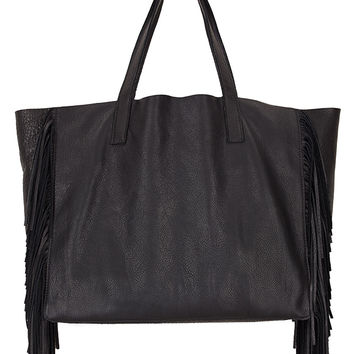 TOTO FRINGE LEATHER TOTE-black-leatheraccessories-one