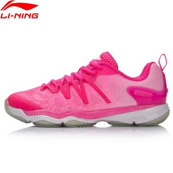 Li-Ning Women Professional Ranger Badminton Shoes Breathable Sneakers Wearable Cushion LiNing Sports Shoes AYAM022 XYY071