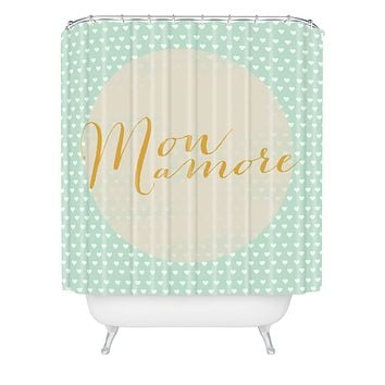 Allyson Johnson French My Love Shower Curtain