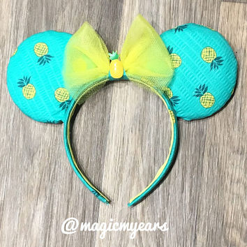 Dole Whip Mickey Ears - Dole Whip Ears - Disney Inspired Dole Whip Ears - Dole Whip Disney Ears - Pineapple Dole Whip Ears