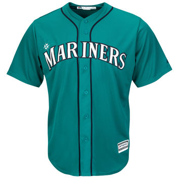 Majestic Ken Griffey Jr. Seattle Mariners Northwest Green Cool Base Player Jersey