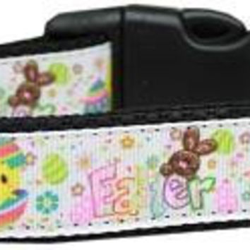 Happy Easter Nylon Dog Collar Medium
