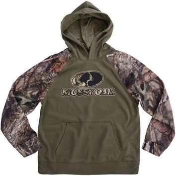 Boy's Realtree & Mossy Oak Camo Pullover Performance Fleece Hoodie - Walmart.com