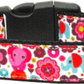 Elephant Elefun Nylon Ribbon Collars Medium
