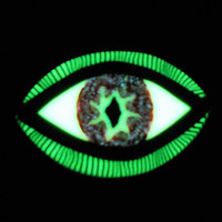 EyeGloArts Eyeballs Reptile Red Glow in the dark Eye Pendant #EY232014