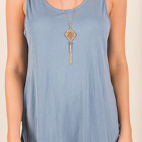 The Right To Be Basic Tank, Chambray