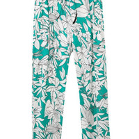 White Print Casual Pants [5013370244]
