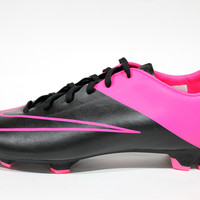 Nike Men's Mercurial Victory V FG Black/Hyper Pink Soccer Cleats 651632 006