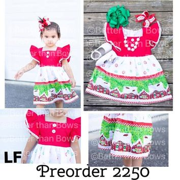 Preorder 2250- Gingerbread House Dress!! Closes 7/18