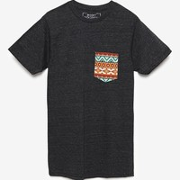 Riot Society Tribal Pocket T-Shirt - Mens Tee - Black