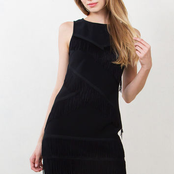 Shake It Off Fringe Cocktail Dress