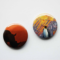 Pinback Button Badge Pack  2 Original Surreal by SarahEmilyKirk