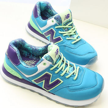 NEW BALANCE Women Men Casual Running Sport Shoes The inside printing Sneakers Blue