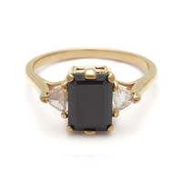 Bea Three Stone Ring - Black Diamond