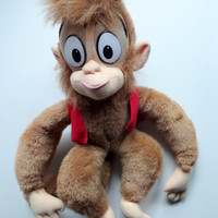 Vintage Abu the Monkey from Aladdin Stuffed Animal 1992