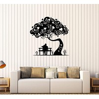 Vinyl Wall Stickers Loving Couple Tree Love Heart Romantic Decal Mural Unique Gift (230ig)