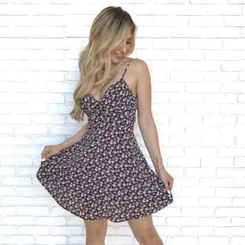 Grows In The Dark Floral Skater Dress