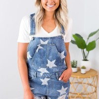 Star Printed Overalls
