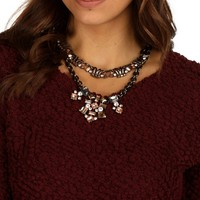 Sale-black Neutral Enchanted Statement Necklace