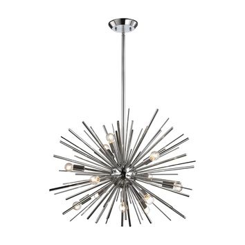 Starburst 12 Light Pendant In Polished Chrome