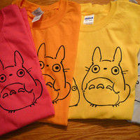 Totoro Inspired Screenprinted TShirt by mosaicshirts on Etsy