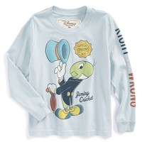Boy's Peek 'Disney - Jiminy Cricket' Graphic Long Sleeve