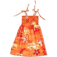 Aurora Orange Sunkiss Hawaiian Girl Dress