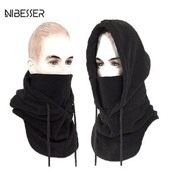 NIBESSER 12 color New Fashion Women Men Scarf Warm Windproof Scarves Thicker Bigger fleece Collar Hat Autumn Winter Headband