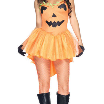 Orange Tutu Dress Pumpkin Princess Costume