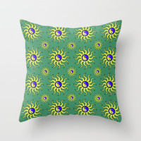 Ying Yang Sunshine Throw Pillow by Alice Gosling | Society6