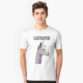 """llámame call me LLAMA Spanish Saying"" Unisex T-Shirt by Dreambigdigital 