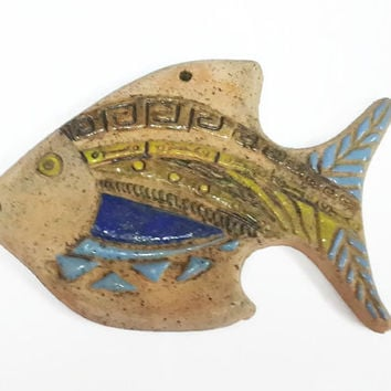 Home Decor Ceramic Fish / Ceramic Fish / Decorative Object / Wall Hanging Fish/ Home Decor Wall Hanging
