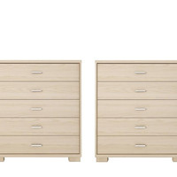 Astor 2-Piece Bedroom Dresser Set in Oak Vanilla