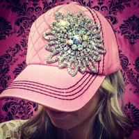 GLITZ & GLAM BARBIE PINK QUILTED HAT - Default Title