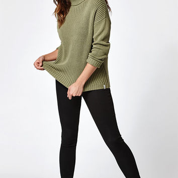 Rhythm Snowflake Ribbed Turtleneck Sweater at PacSun.com
