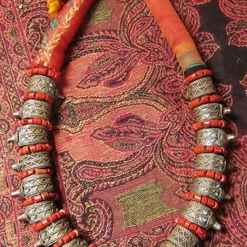 Old Berber Harratine Necklace with Rings, South Morocco