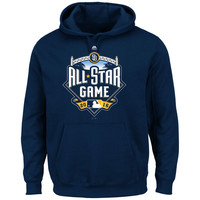 Men's San Diego Padres Majestic Navy 2016 All-Star Game Logo Pullover Hoodie