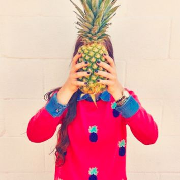 Vineyard Vines Merino Wool Pineapple Sweater- FINAL SALE
