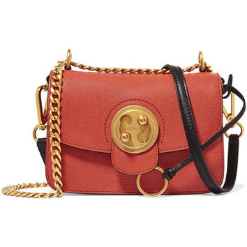 Chloé - Mily small textured-leather and suede shoulder bag