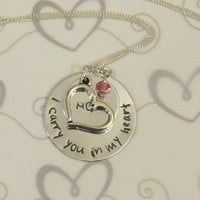 I CARRY You In My HEART Necklace - .. on Luulla