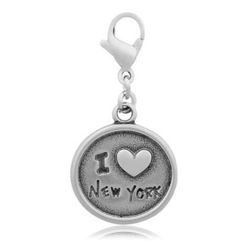 30PC Stainless Steel Charms Cute I Love New York Charms Pendants DIY Jewelry Accessories Necklace Women Men Jewelry