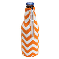 Orange Chevron Coozie